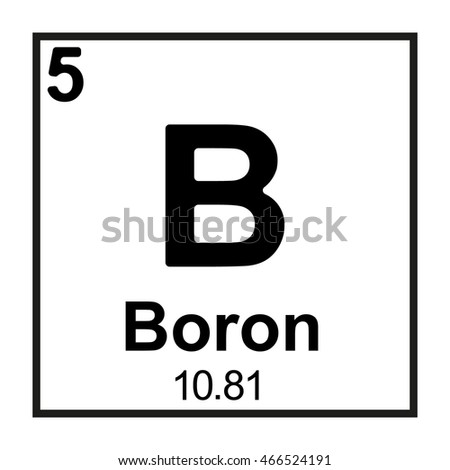 Periodic Table Element Boron Stock Vector Royalty Free 466524191