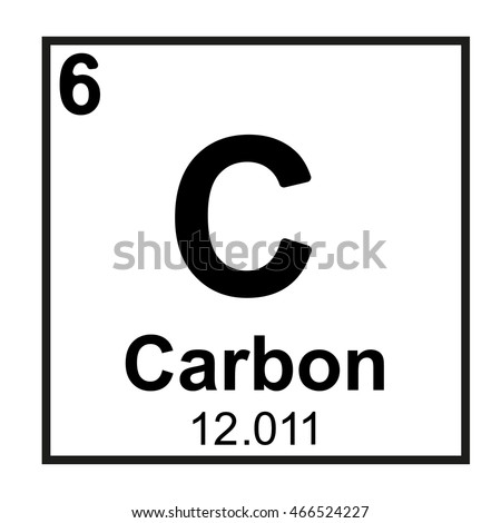 Periodic Table Element Carbon Stock Vector Royalty Free 466524227