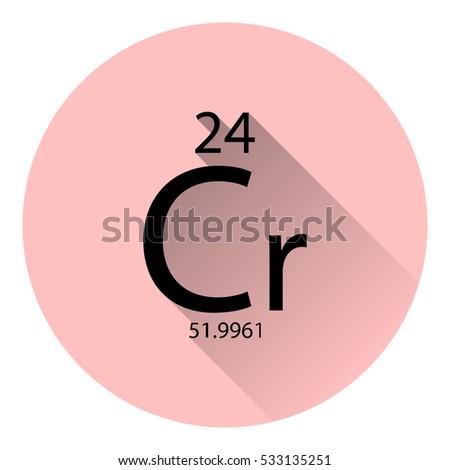 Periodic Table Element Chromium Basic Properties Stock Vector