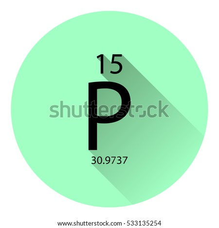 Periodic table element phosphorus basic properties stock vector the periodic table element phosphorus with the basic properties flat style with long shadow urtaz Images