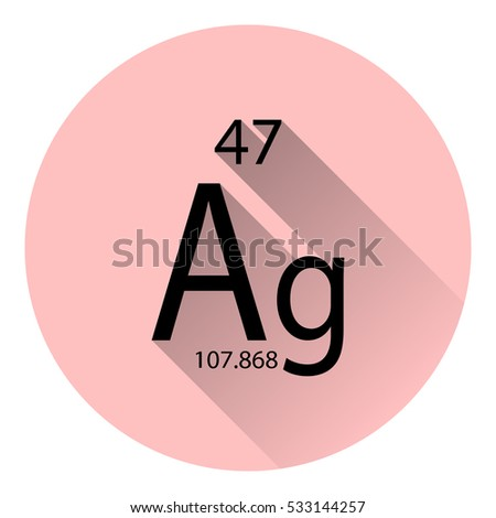 Periodic table element silver basic properties stock vector the periodic table element silver with the basic properties flat style with long shadow urtaz Gallery