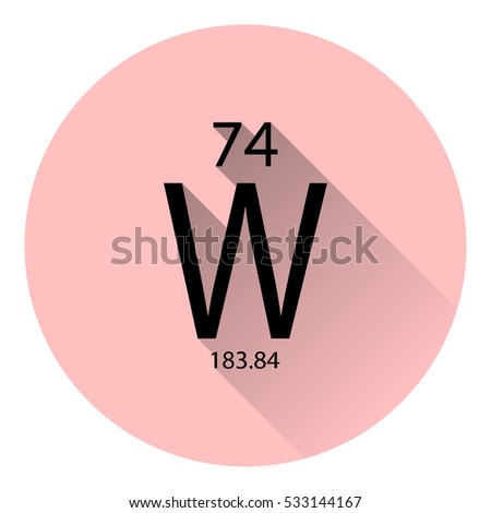 Periodic table element tungsten basic properties stock vector the periodic table element tungsten with the basic properties flat style with long shadow urtaz Choice Image