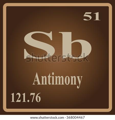 Periodic table elements antimony stock vector 368004467 shutterstock the periodic table of the elements antimony urtaz Gallery