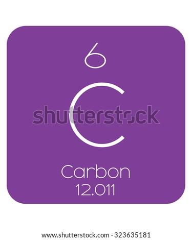 Periodic table elements carbon stock vector 323635181 shutterstock the periodic table of the elements carbon urtaz Gallery