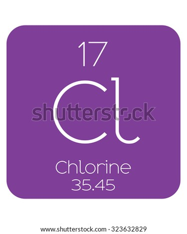 The Periodic Table of the Elements Chlorine - stock vector