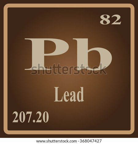 Periodic Table Elements Lead Stock Vector 368047427 Shutterstock
