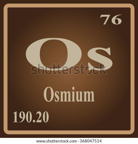 Periodic table elements osmium stock vector 368047514 shutterstock the periodic table of the elements osmium urtaz Images
