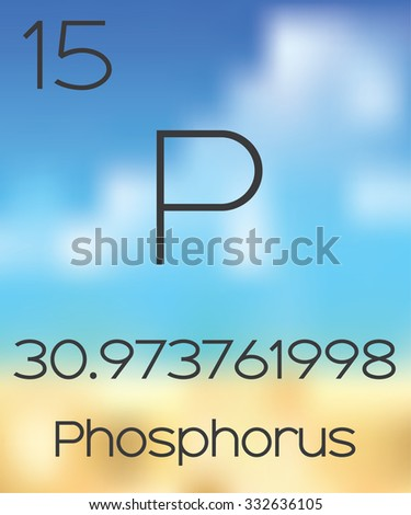 The Periodic Table of the Elements Phosphorus - stock vector