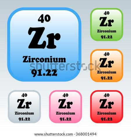 Periodic table elements zirconium stock vector 368001494 the periodic table of the elements zirconium urtaz Gallery
