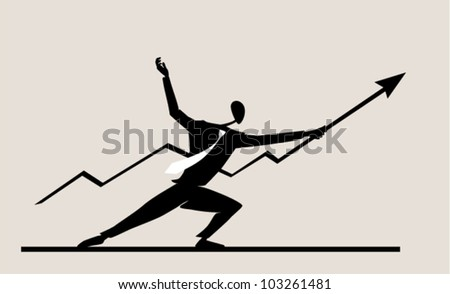 The person costs in a pose of the fencer - stock vector