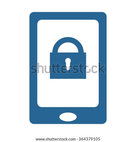 the phone is locked icon, vector illustration. Flat design style - stock vector