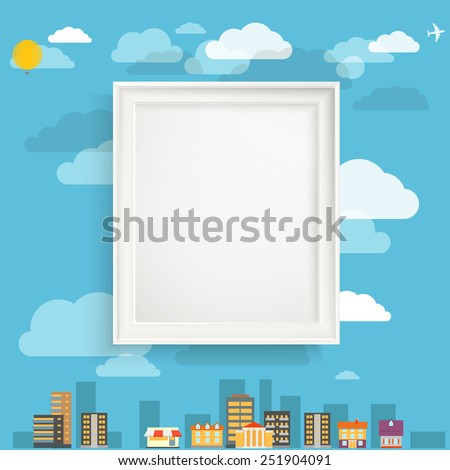 The picture on the wall concept - stock vector
