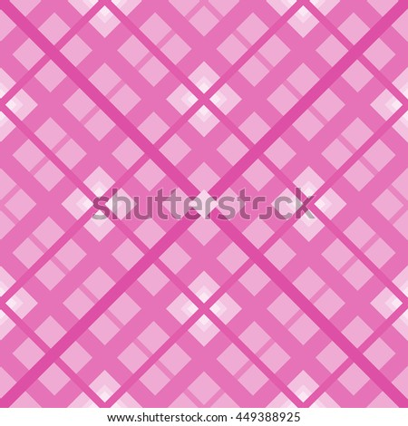 The pink  seamless geometric pattern.Intersecting diagonal stripes.Vector illustration.Can be used for textile,fabric,wrapping paper. - stock vector