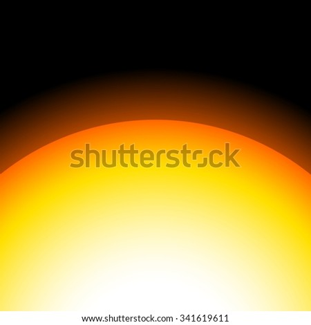 The planet with glowing rays; moon; new horizon; eclipse; universe; Saturn; Pluto; Sun - stock vector