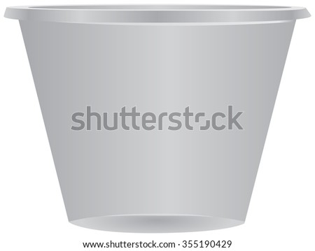 The plastic cup-shaped container for dispensing medication. Vector illustration. - stock vector