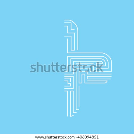 The plus sign The  side is a labyrinth - stock vector