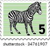 The postage stamp - stock photo