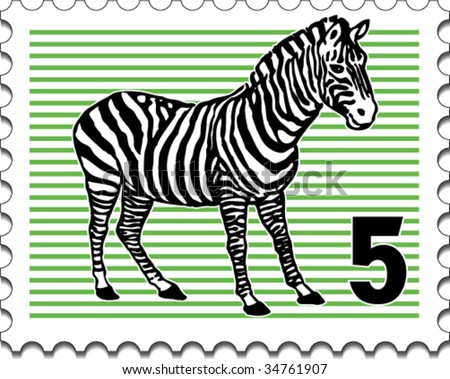 The postage stamp - stock vector