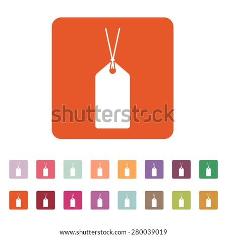 The price tag icon. Label symbol. Flat Vector illustration. Button Set - stock vector