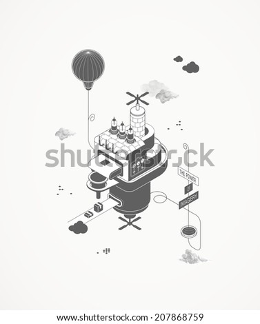 The printing house  - stock vector