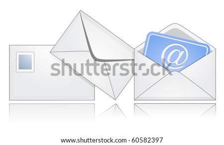 The process of mail sending. E-mail. - stock vector