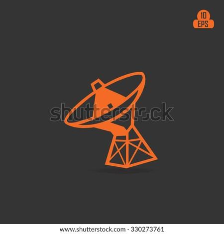 The Radar antenna round, Vector illustration..... - stock vector