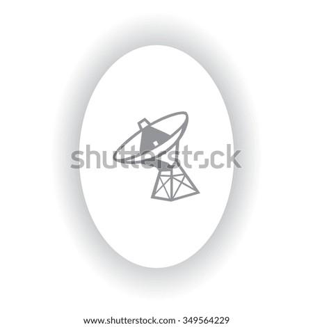 The Radar antenna round, Vector illustration. - stock vector