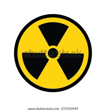 The radiation icon. Radiation symbol. - stock vector