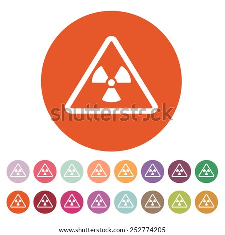 The radiation icon. Radiation symbol. Flat Vector illustration. Button Set - stock vector