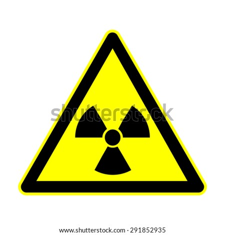 The radiation sign. Radiation symbol,vector illustration on white backgroung