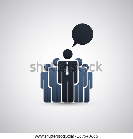 The Real Leader - Business Men Icons - stock vector