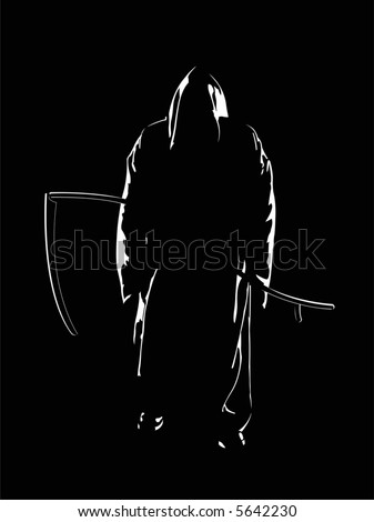 The reaper of souls. A vector illustration. - stock vector