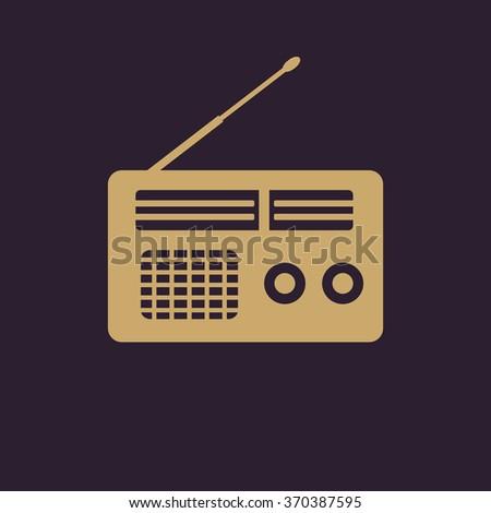 The receiver icon. Radio symbol. Flat Vector illustration - stock vector