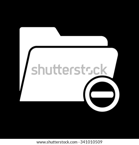 The remove from folder icon. Data and directory, archive, storage symbol. Flat Vector illustration - stock vector