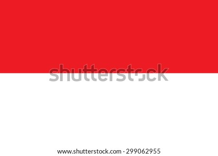 The Republic of Indonesia flag vector in official format and true colors. - stock vector