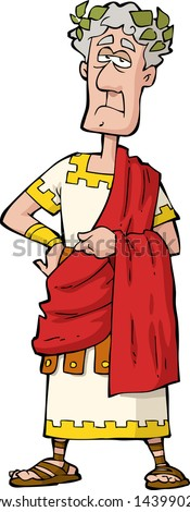 The Roman emperor on a white background vector illustration - stock vector