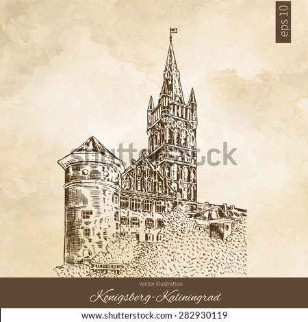 Russian Castles Drawing The Royal Castle of