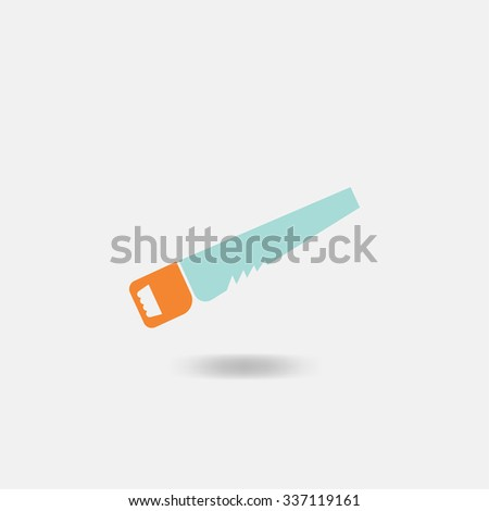 The saw icon. Saw symbol. Flat Vector illustration - stock vector