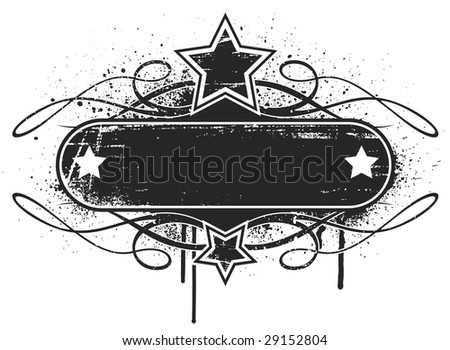 The scratches/dirt are separate filled paths which give you the option to easily remove them for a cleaner look, or trim the image if you'd like the background color to be visible through the banner. - stock vector