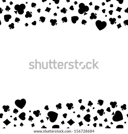 Seamless Pattern Made Out Casino Symbols Stock Vector Hd Royalty