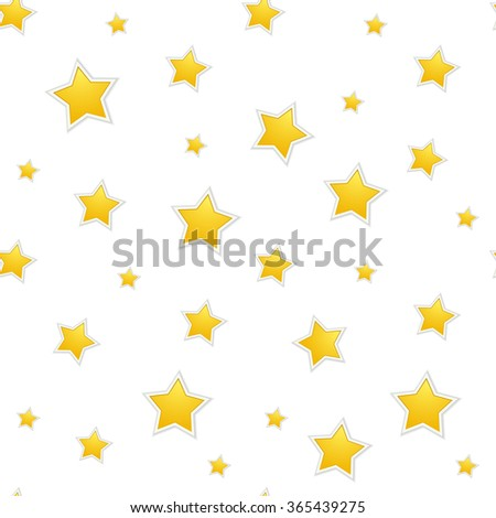 The seamless star background / The Christmas background / The anniversary background  - stock vector