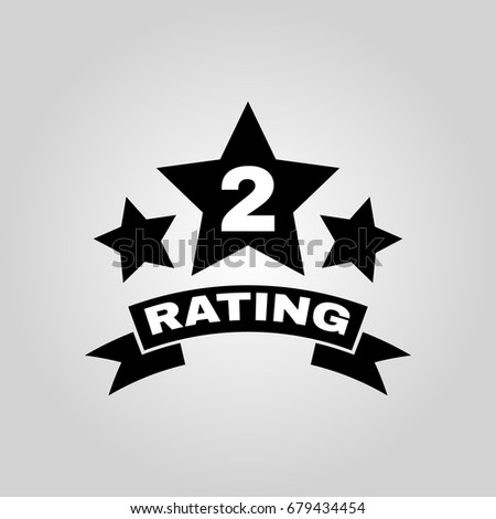 Second Place Rating Icon Ranking Classification Stock Vector