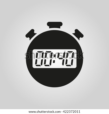 The 40 seconds, minutes stopwatch icon. Clock and watch, timer, countdown symbol. UI. Web. Logo. Sign. Flat design. App. Stock vector - stock vector
