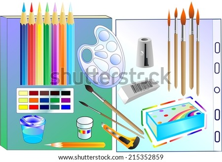 The set consist of many tools for drawing
