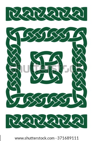 The set of basic elements of Celtic ornament - stock vector