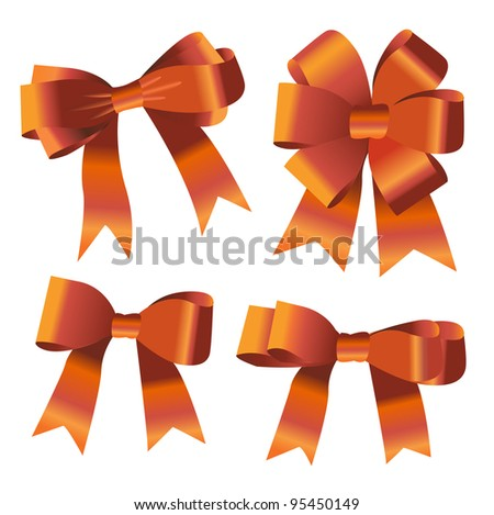 the set of ribbon bow