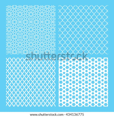 The set of Traditional Arabian pattern - stock vector