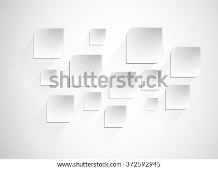 The sheets of paper on a gray background