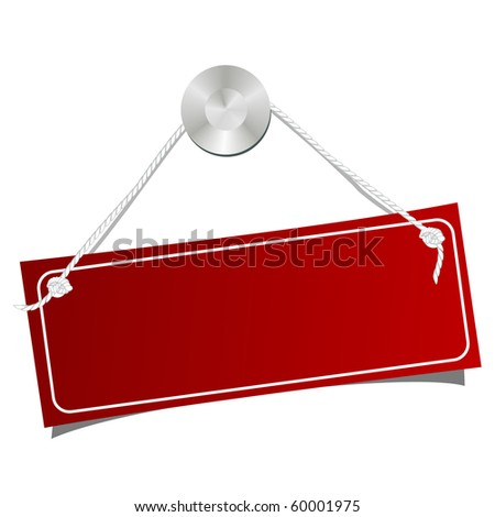 The shined tablet on a nail. Vector illustration. isolated on a white - stock vector