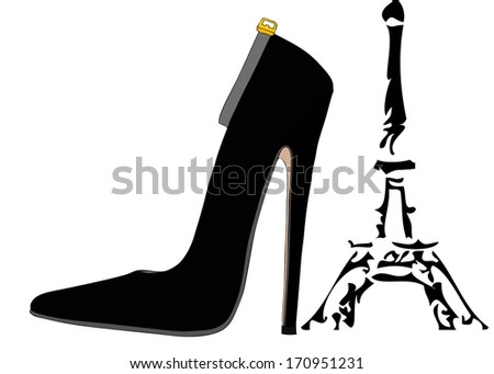 The shoes of Paris - stock vector